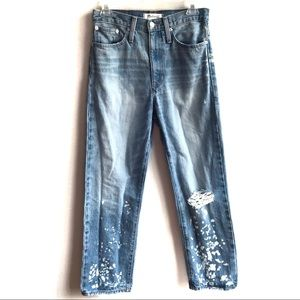 Madewell Dad Jeans Bleach Edition High Rise '90s